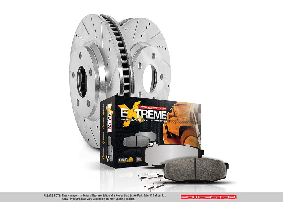 Power Stop K5412-36 Z36 Truck /& Tow Front Brake Kit