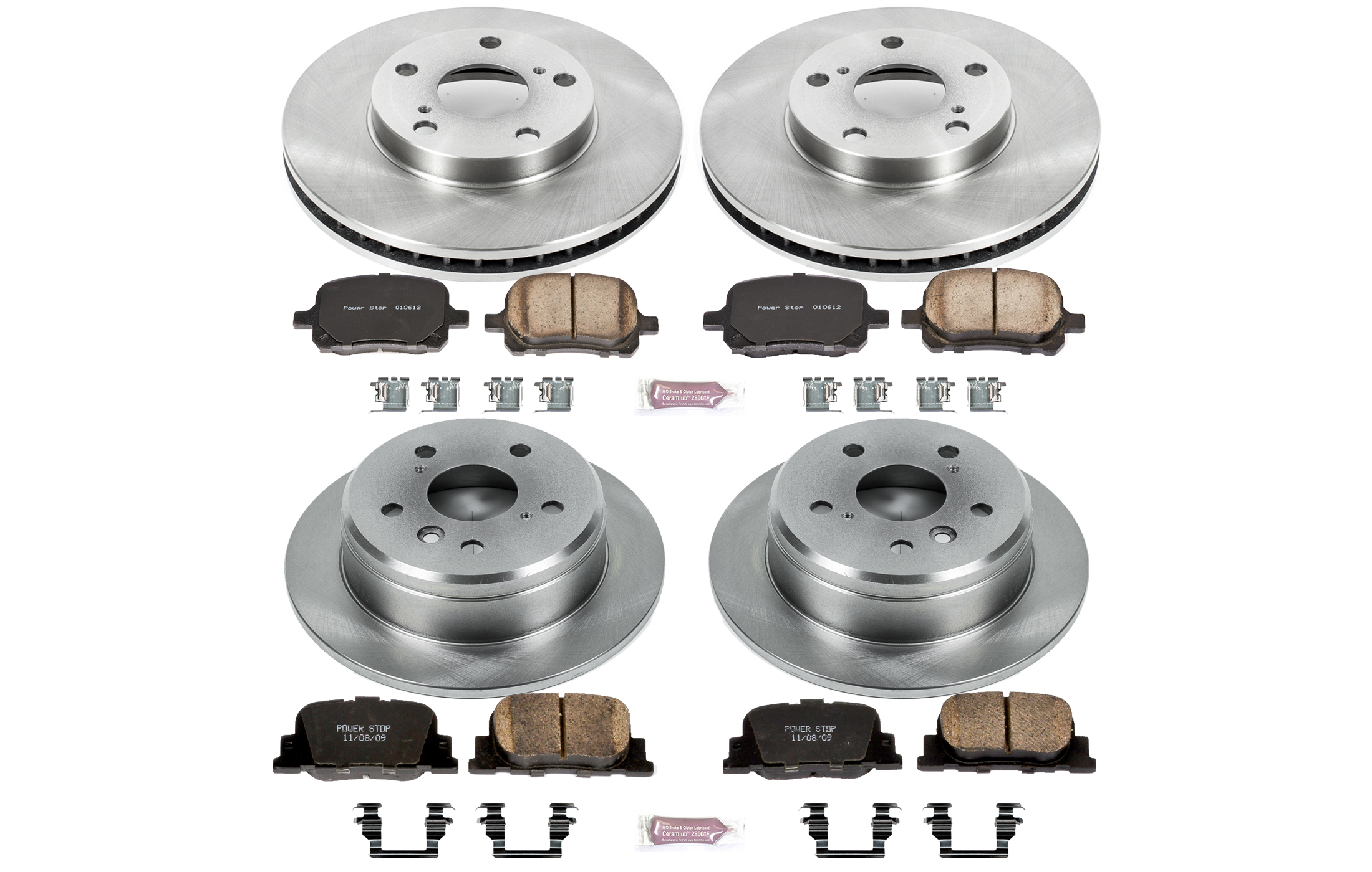 Autospecialty Front Power Stop Daily Driver OE Brake Kit KOE4975