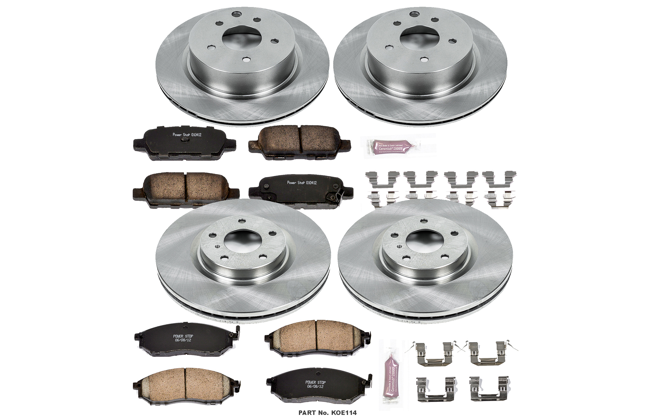 Autospecialty KOE1146 1-Click OE Replacement Brake Kit Power Stop